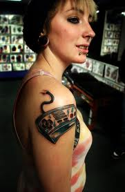 Nice Game Controller Tattoo On Right Shoulder