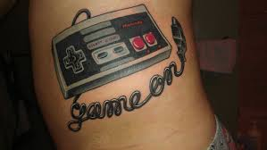 Nintendo Controller Tattoo On Waist