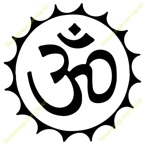 Ohm Symbol In Circle Tattoo Design