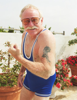 Old People Get Panther Tattoo On Muscles