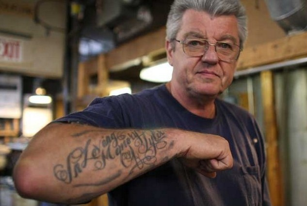 Old People Showing Arm Tattoos
