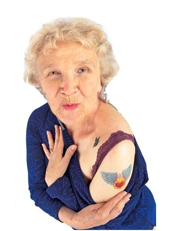 Old People Showing New Tattoo