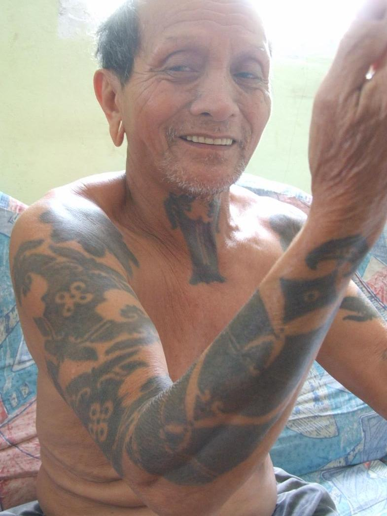 Old People With Black Arm Tattoos