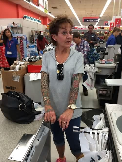 Old People With Colorful Sleeve Tattoos