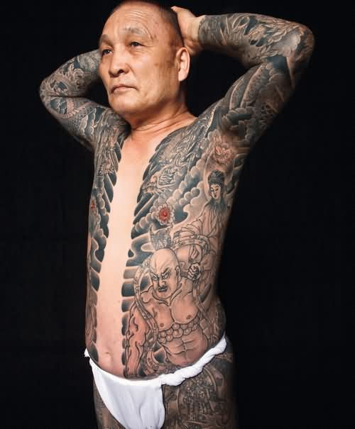 Old People With Full Body Tattoos