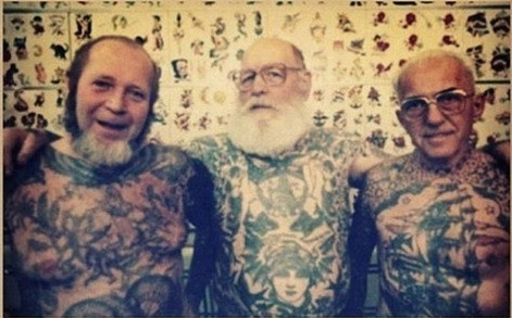 Old People With New Full Body Tattoos