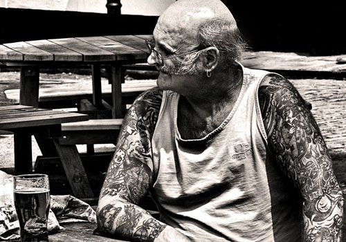 Old People's Colorful Sleeve Tattoos
