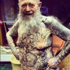 Old People's Full Body Tattoos