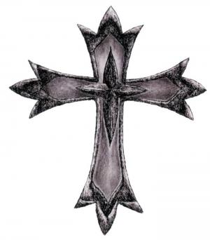 Old Style Cross Tattoo Sample