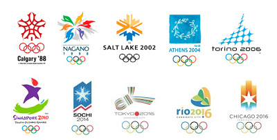 Olympic Logos Tattoos Set