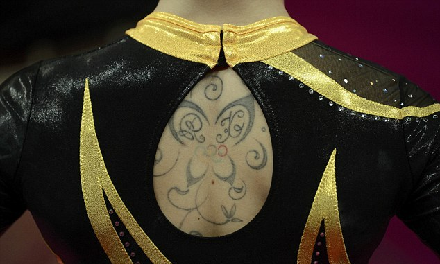 Olympic Ring Butterfly Tattoo