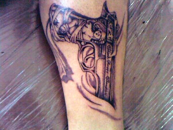 Once Again A Pistol Tattoo