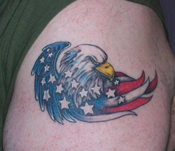 Once Again Patriotic Eagle Tattoo