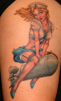 Once Again Pin Up Girl Tattoo