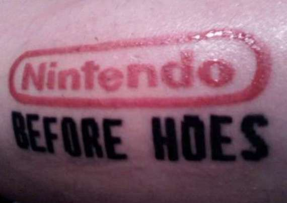 Once Again Video Game Tattoo