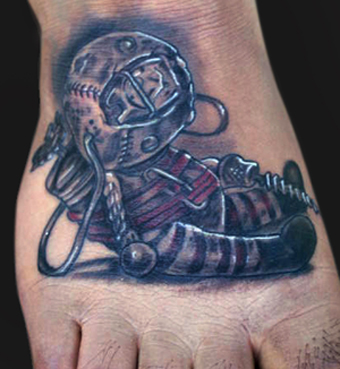 Original Bioshock Doll Tattoo On Foot