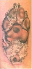 Original Dog Paw Print Tattoo