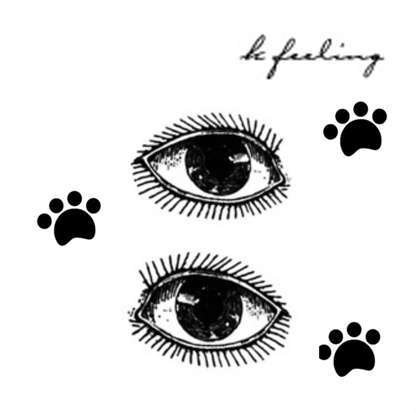 Original Eyes And Paw Print Tattoo Designs