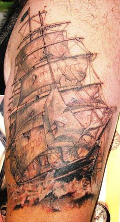 Original Pirate Ship Tattoo