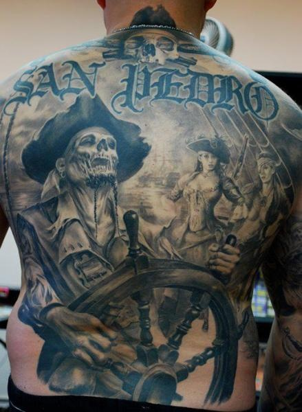 Original Pirates Tattoos On Entire Back