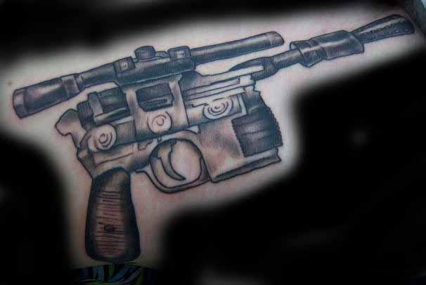 Original Pistol Tattoo Image