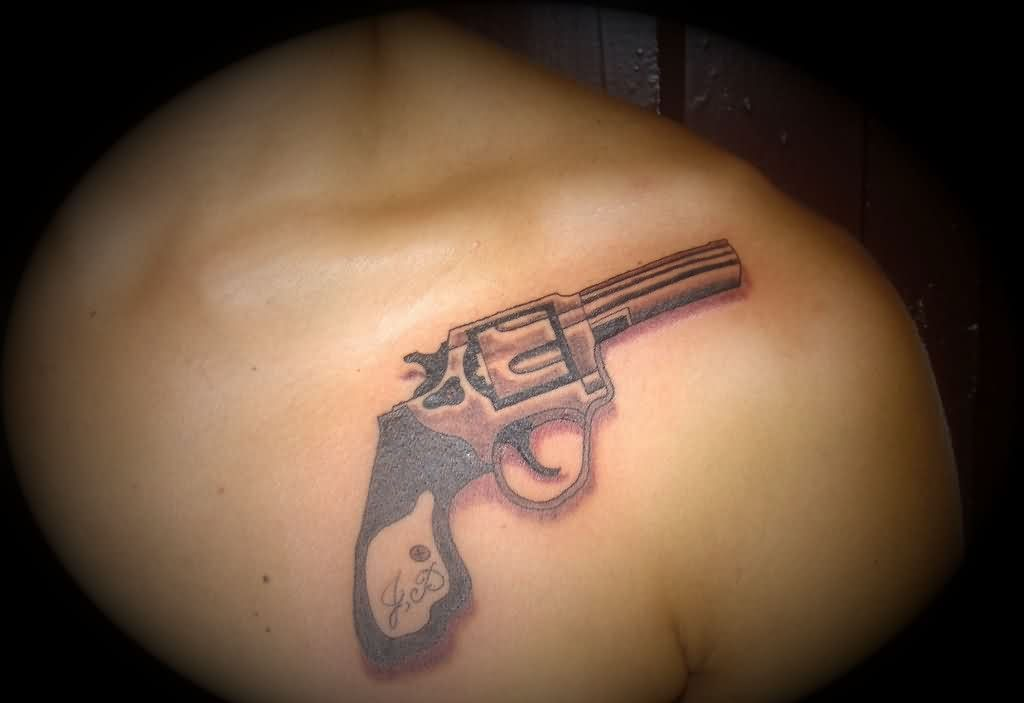 Original Pistol Tattoo On Front