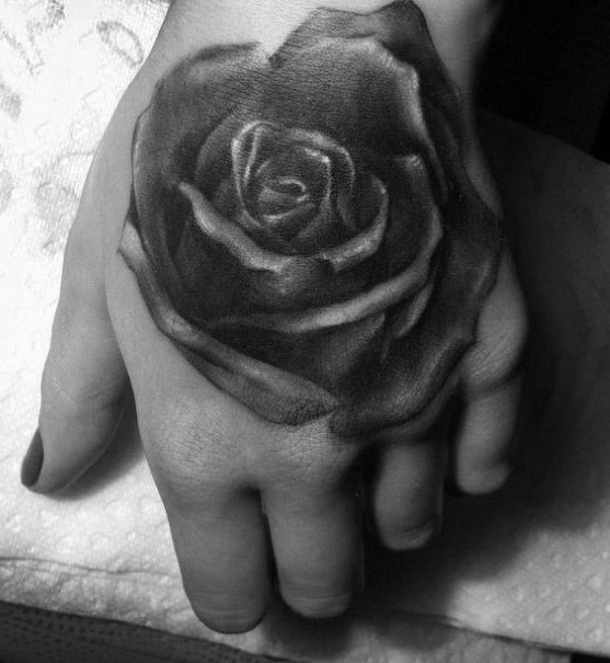 Original Rose Tattoo For Hand