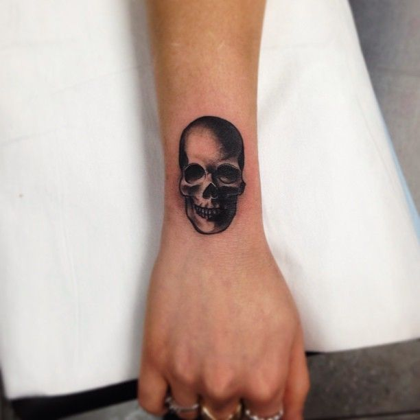 Original Skull Tattoo On Wrist