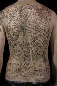 Outline Native American Tattoos On Entire Back