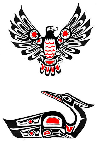 Pacific Northwest Native American Totem Tattoo Design