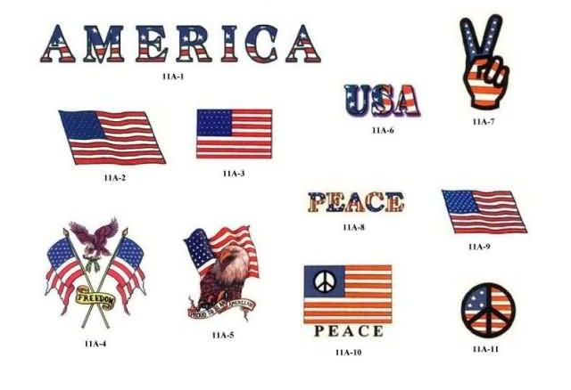 Patriotic And Peace Tattoos