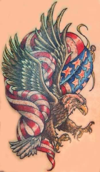 Patriotic Bald Eagle Tattoo