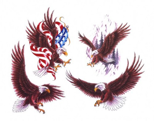 Patriotic Eagle Tattoos