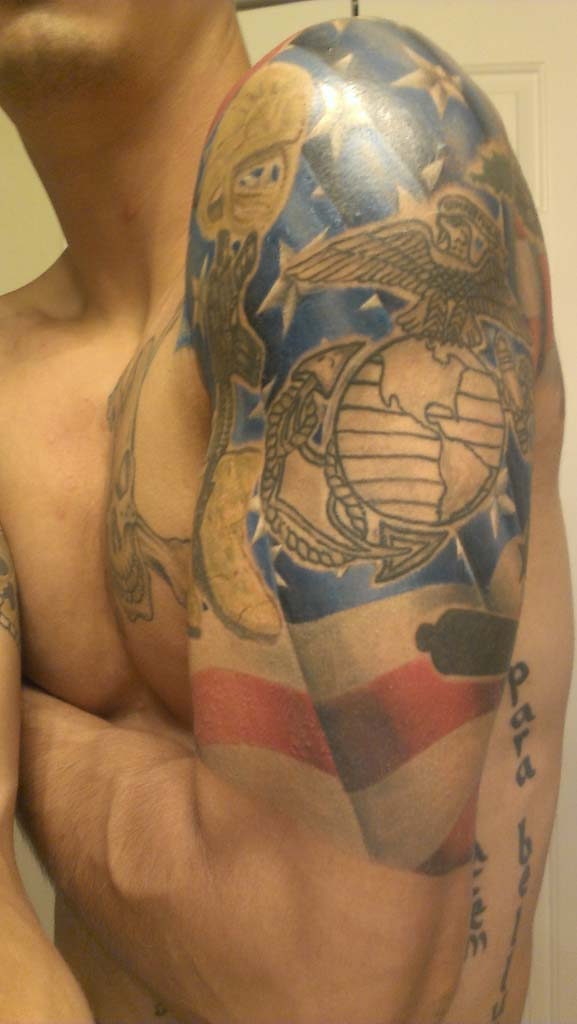 Patriotic Tattoos On Arm For Boys
