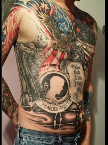 Patriotic Tattoos On Body