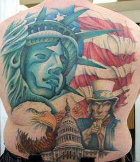 Patriotic Tattoos On Whole Back
