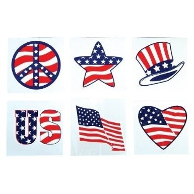 Patriotic Tattoos Stickers