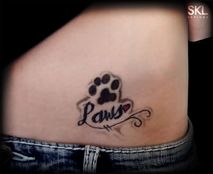 Pauls Paw Print Tattoo For Girls