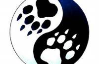 Paw Print In Yang Yang Tattoo Design