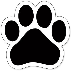 Paw Print Tattoo Sticker