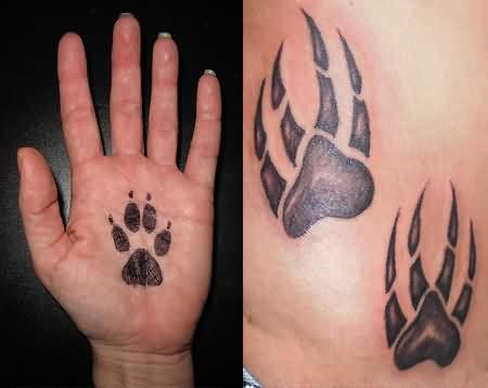 Paw Print Tattoos Images