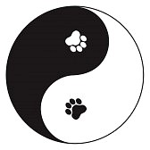 Paw Print Yin Yang Tattoo Sample