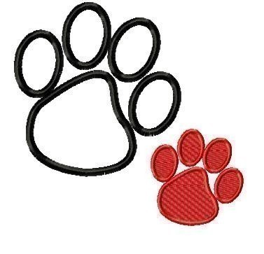 Paw Prints Embroidery Tattoos