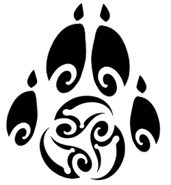 Paw Tribal Tattoo Style