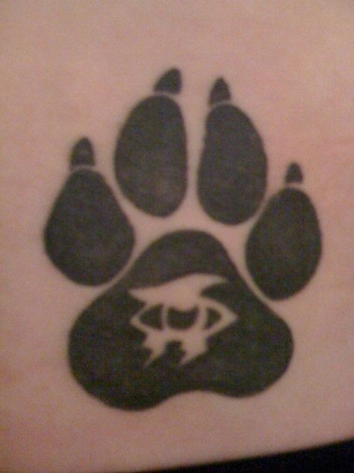 Pawprint Waist Tattoo