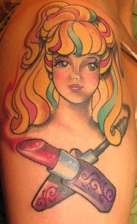 People Barbie Tattoos On Arm