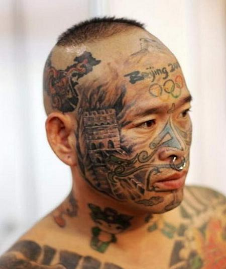 People Face Tattoos