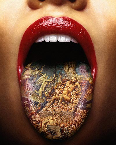 People Tattooed Tongue