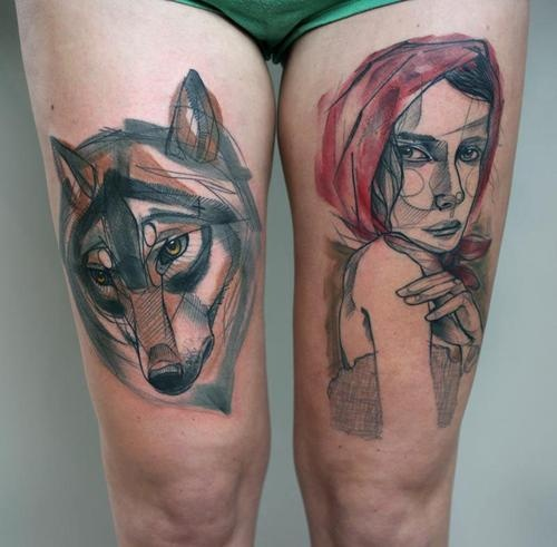 Peter Aurisch Tattoos On Thighs