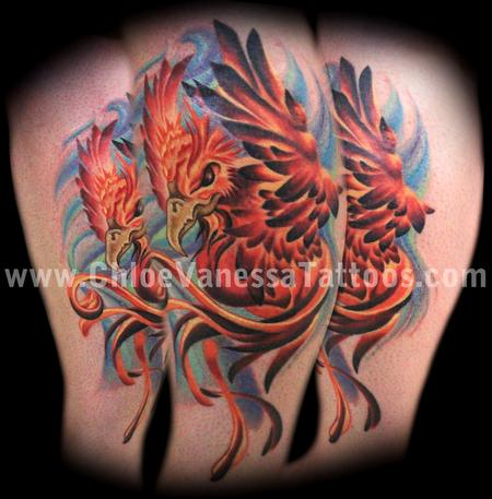 Phoenix Bird Flying Fantasy Fire Fly Wind Magic Tattoo